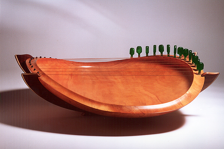 Sounding Bowl 32 In Sycamore, Frame In Walnut
