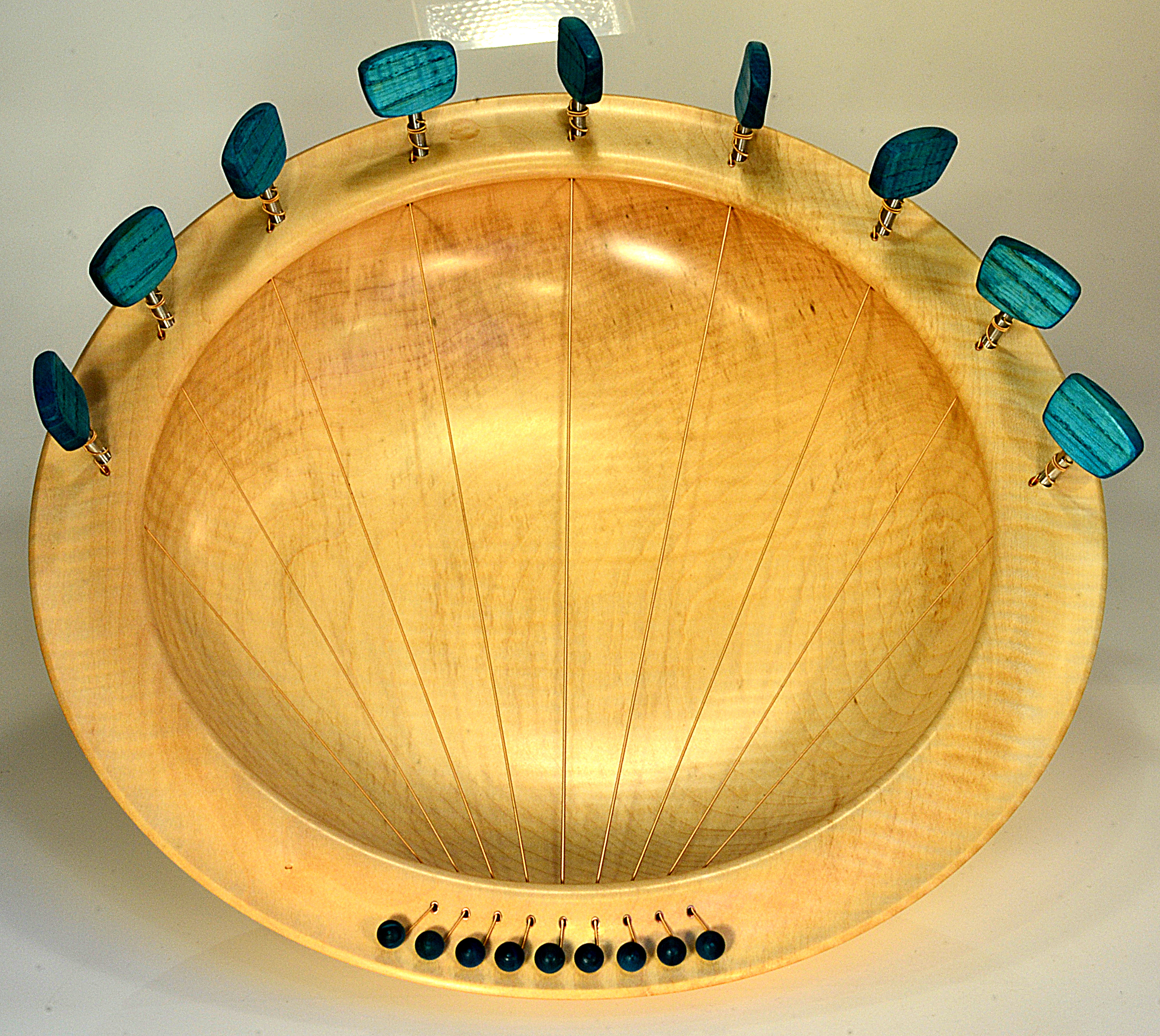 Lyre Bowl In Sycamore