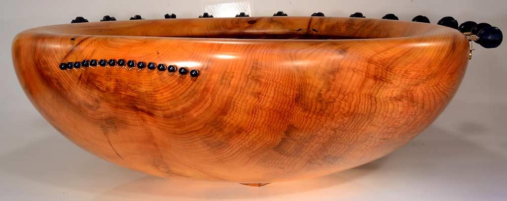 Heart Bowl, 15 Strings, In Yew