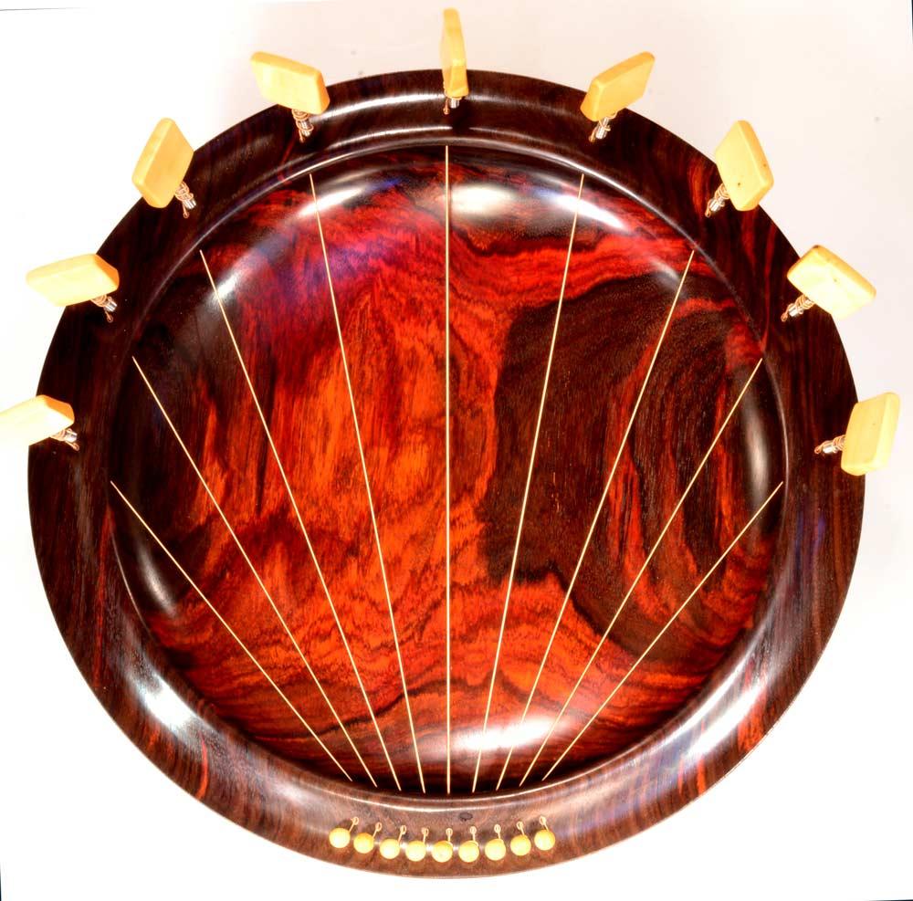 Lyre Bowl In Rosewood, 9 Strings