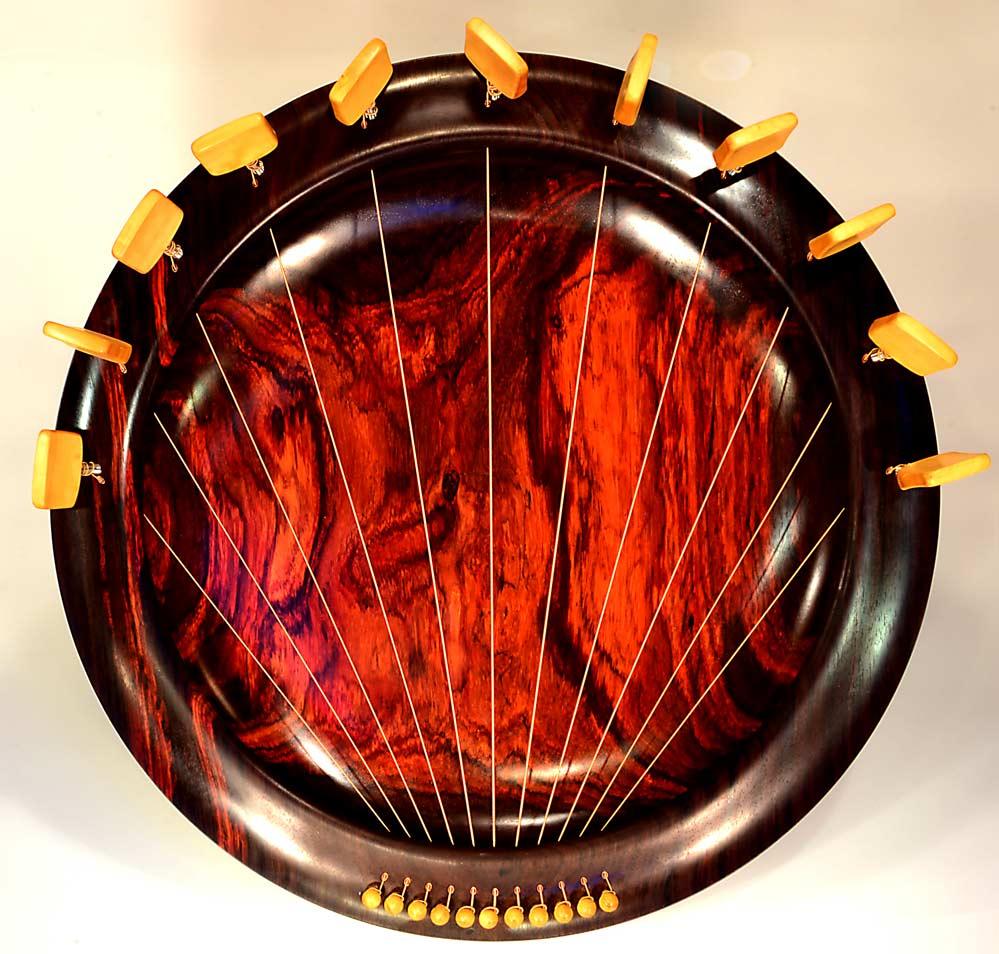 Lyre Bowl In Rosewood, 11 Strings