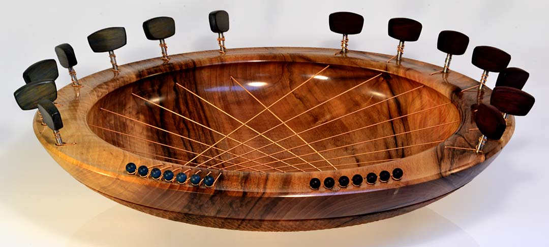 Bridging Bowl In Walnut, 14 Strings